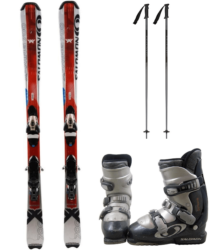 Standard Skis,Boots &  Poles $45.00/$10extra days