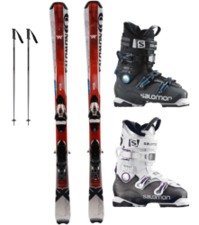 Standard Skis with a Premium Boot $55.00/$20 extra days